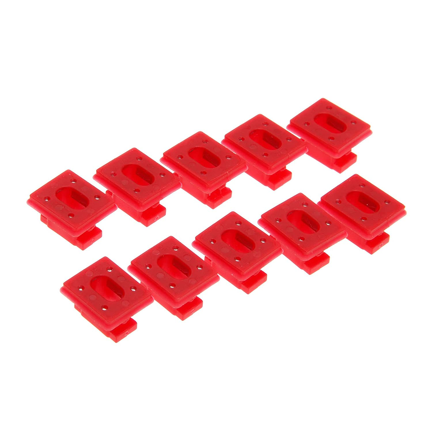 Mtsooning 10Pcs Dashboard Dash Trim Strip Inserts Clips Grommets for E46 3 E65 7 Series X3 E85