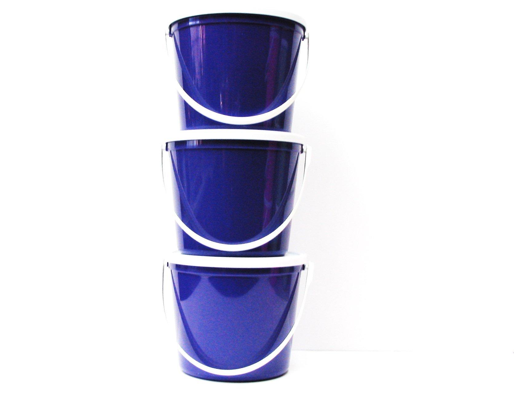Talisman, Plastic Buckets & Lids, 80 Ounces, 3 Pack, Purple by Talisman (Image #1)