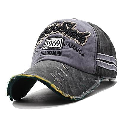 Rock Shark Kingston 1969 Jamaica Distressed Vintage Trucker Baseball Cap  Snapback Sports Outdoors Hat (Black 0ca73ace65c7