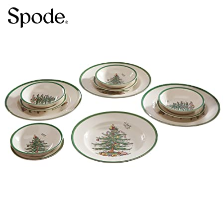 Spode Christmas Tree 12 Piece Dinner Set: Amazon.co.uk: Kitchen & Home