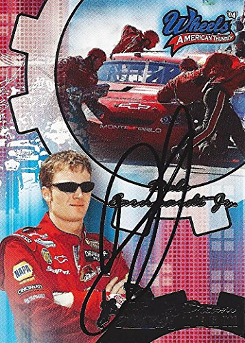 (AUTOGRAPHED Dale Earnhardt Jr. 2004 Wheels American Thunder DREAM TEAM (#8 Budweiser Racing) Signed Collectible NASCAR Trading Card with COA)