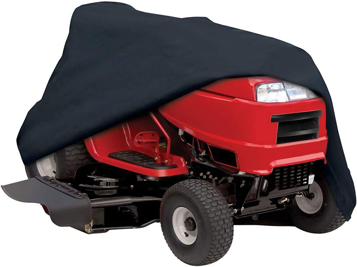 Lawn Mower Cover Waterproof, 600D Heavy Duty UV Resistant Breathable Oxford Fabric Riding Mower Cover, Universal Size Tractor Cover Fits Decks up to 54