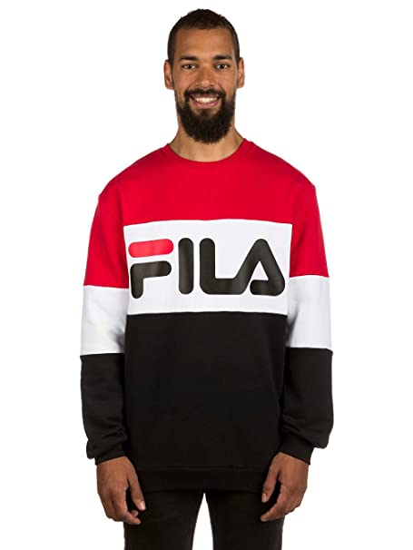 Fila Straight Blocked Crew Sudadera true red: Amazon.es: Ropa y accesorios