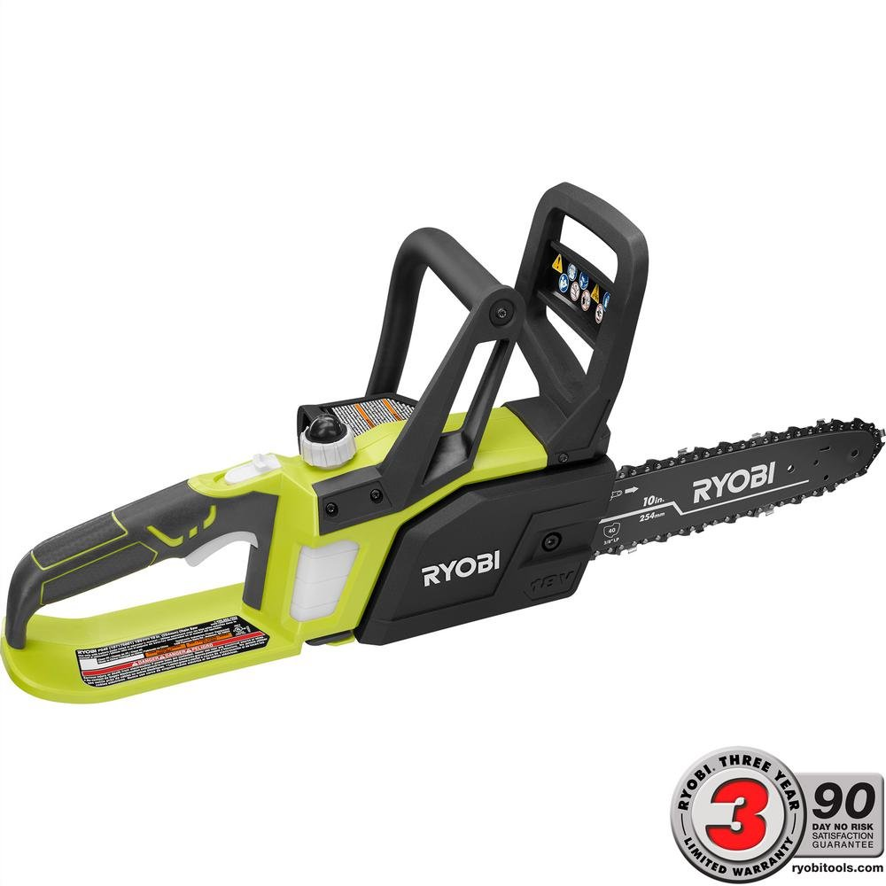 Ryobi ONE+ 10 in. 18-Volt Lithium-Ion Cordless Chainsaw - Battery and Charger Not Included RyobiOne P546A
