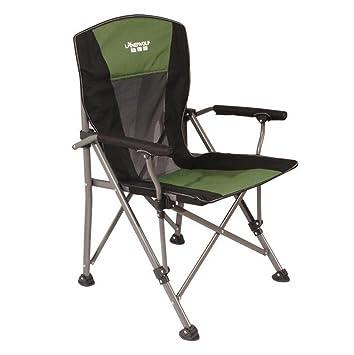 ZHDNG Moon Chair Silla Plegable para Exteriores/Interiores Barbacoa Pesca Camping Sketch Beach, Green