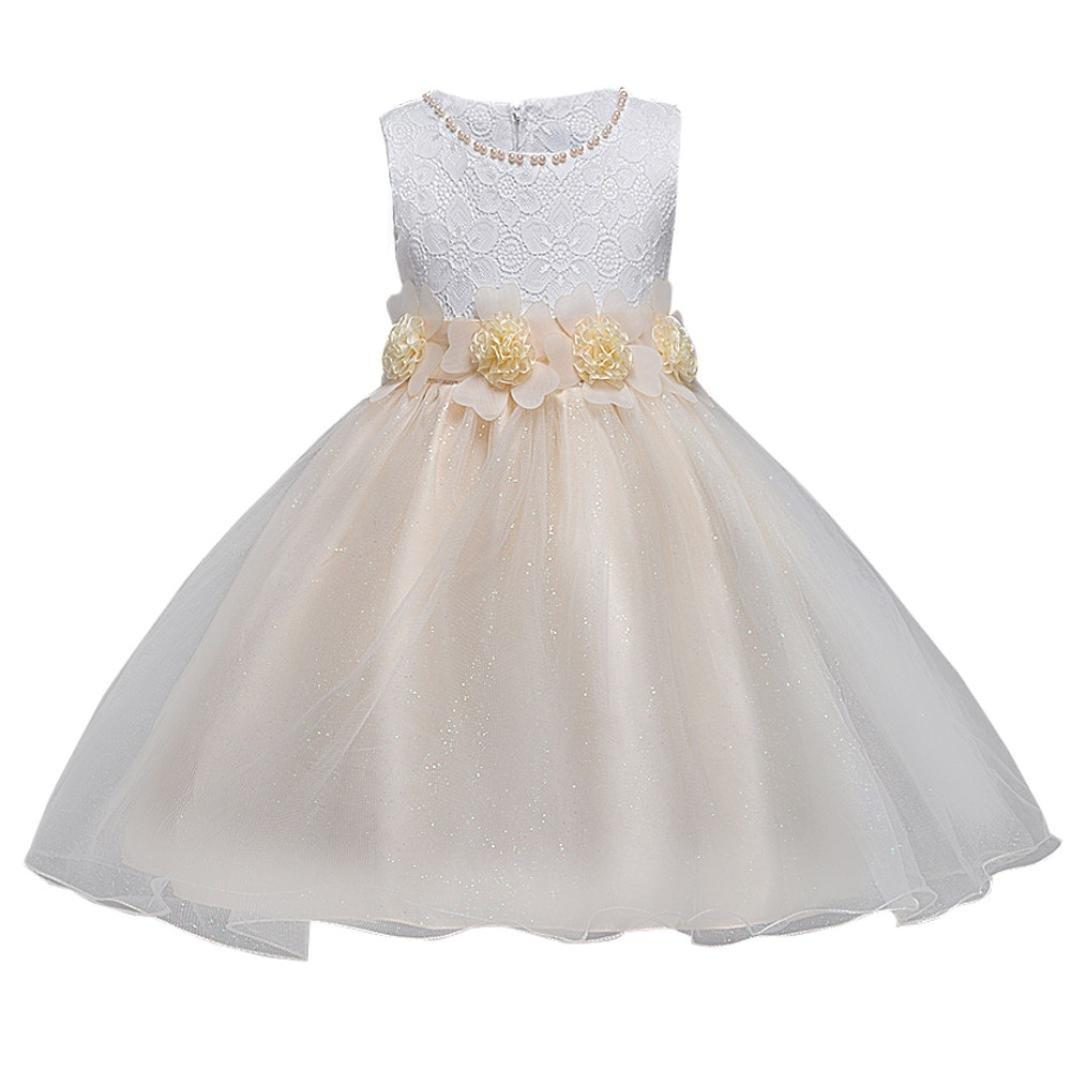 Sannysis Mädchen Prinzessin Tutu Tüll Kleid Blumenmädchenkleid ...