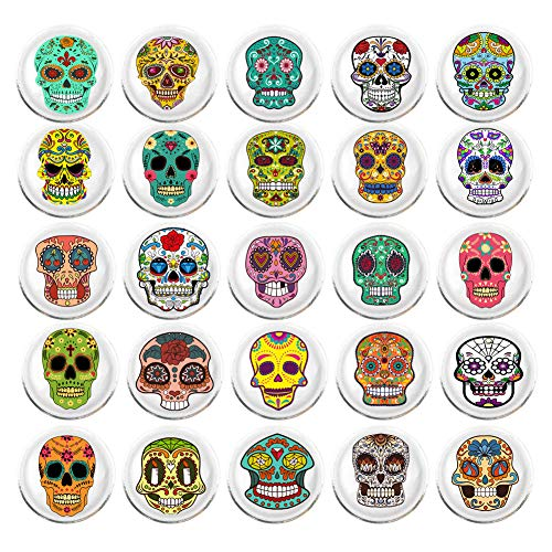 100 Pieces Creative Fashion Steel Thumb Tacks Push Pins Decorative Different Patterns for Photos Wall, Maps, Bulletin Board or Corkboards (Skull) (Pins Metal Push Decorative)