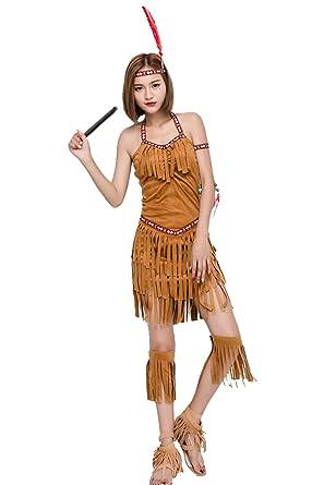 Amazon Com Women S Native American Indian Costume Girl Sexy