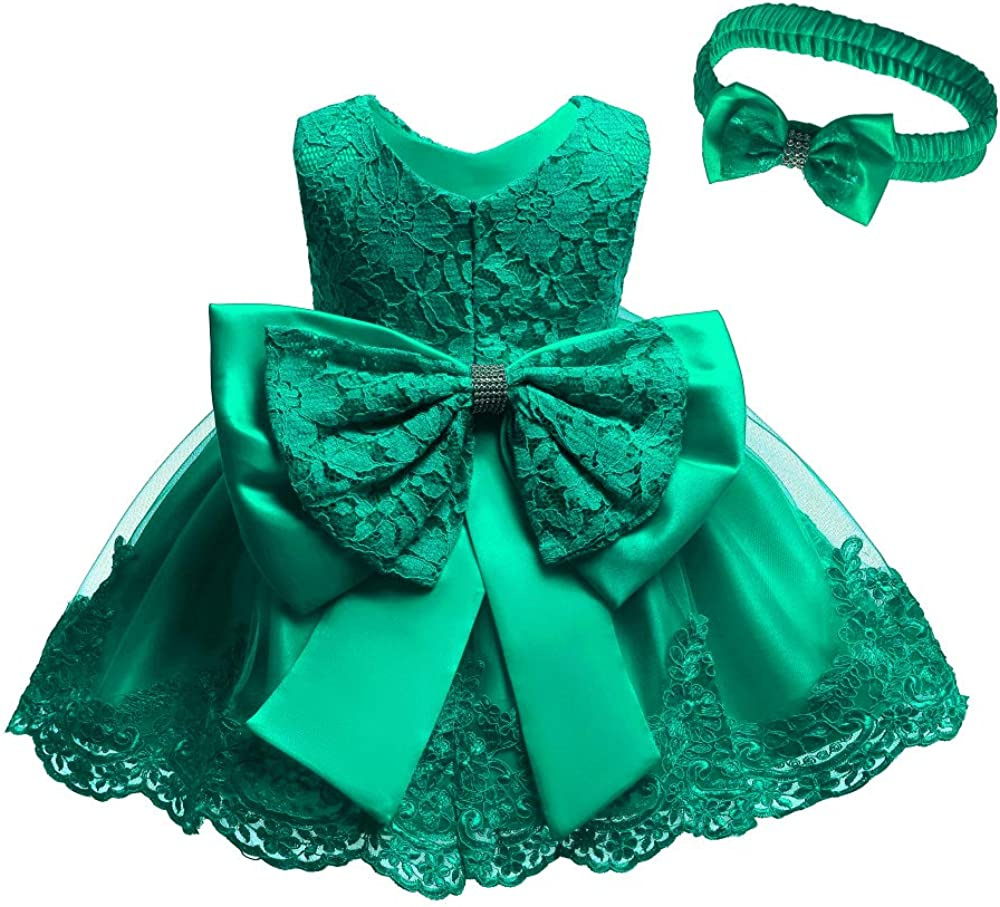 Baby Little Girls Dress Christmas Pageant Party Baptism Party Formal Dress 0-6 Years