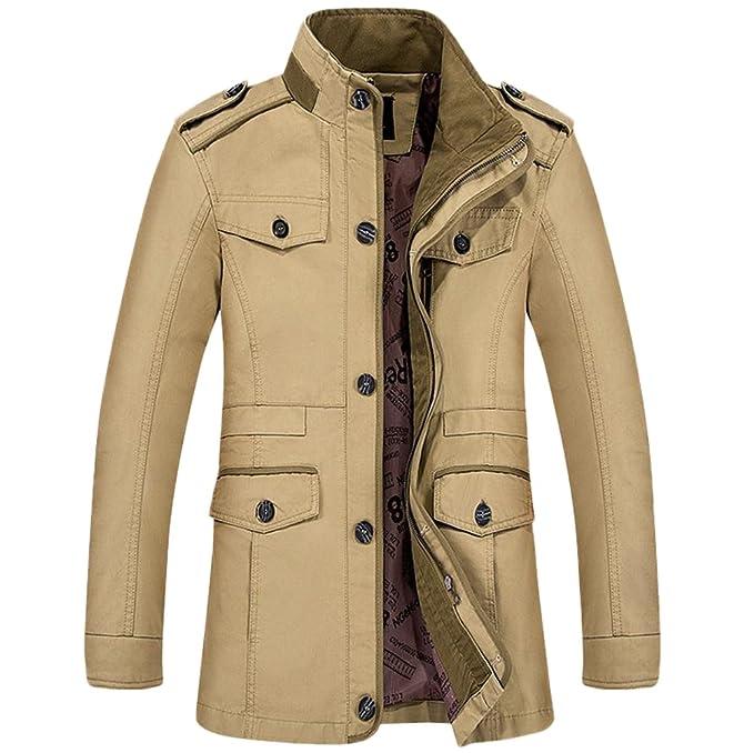TY fashion - Chaqueta - Blusa - para hombre caqui XXX-Large : Amazon.es: Ropa y accesorios