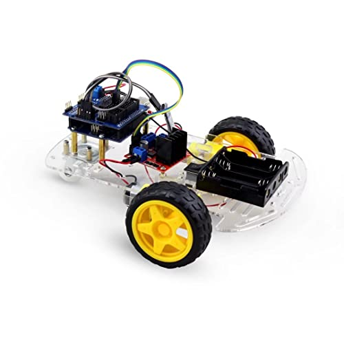 AITREASURE Smart Robot Car Building Kit RC STEM Toy with UNO R3 Bluetooth Module