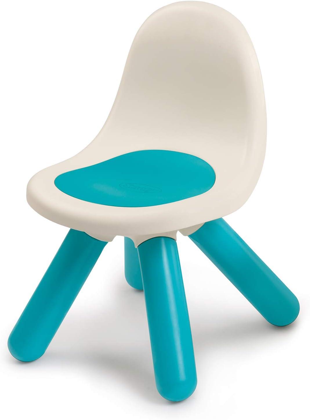 Smoby Kid - Silla infantil de plástico con respaldo para interior y exterior, color azul (880104)