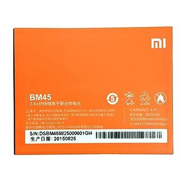 Batería de repuesto para móvil Li-ion backup-Batería (3020 mAh) para Xiaomi (Redmi Note 2 BM45): Amazon.es: Electrónica