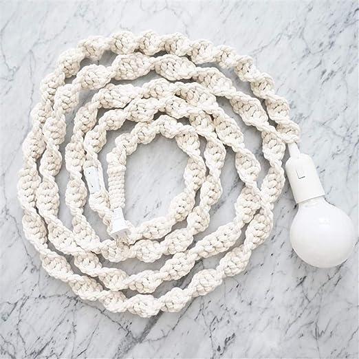 macramé cables a para decoración mano de tejida de Lámpara rdhtCsQ
