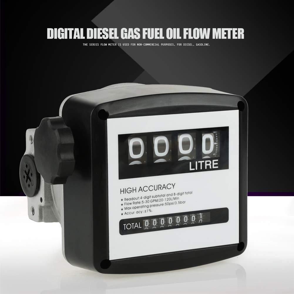 1/% hochgenaue 4 digitale Dieselgas-Heiz/öl-Durchflussmesser-Z/ähleranzeige