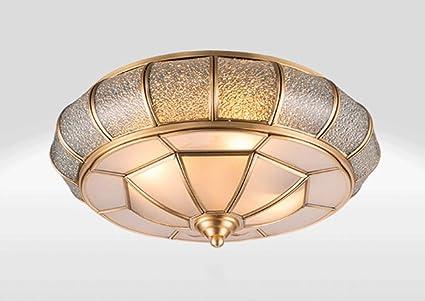 DFHHG® Lámpara de techo de cobre completa, nórdico todas las ...
