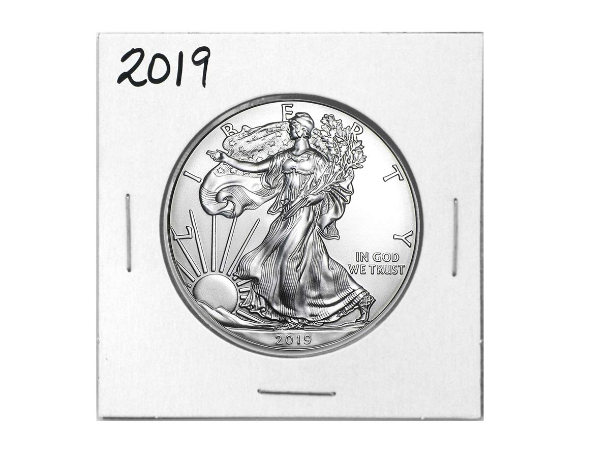 2020 American Silver Eagle .999 Fine Silver in Direct Fit Air Tite with our Certificate of Authenticity Dollar Uncirculated Us Mint