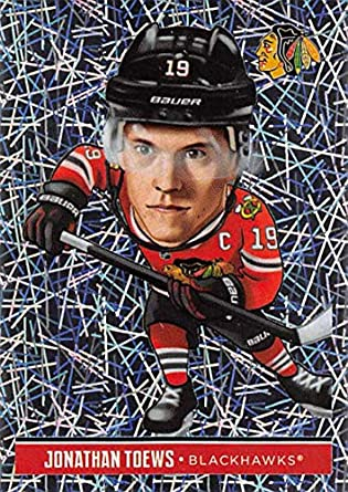 2018-19 Panini NHL Stickers Collection  317 Jonathan Toews Fathead Foil Chicago  Blackhawks Official ddf73b253