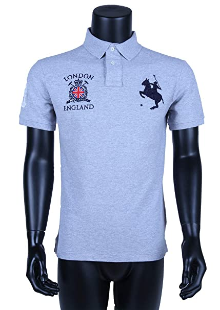 ZIZA - Polo - para Hombre Gris Lightgrey Medium: Amazon.es: Ropa y ...