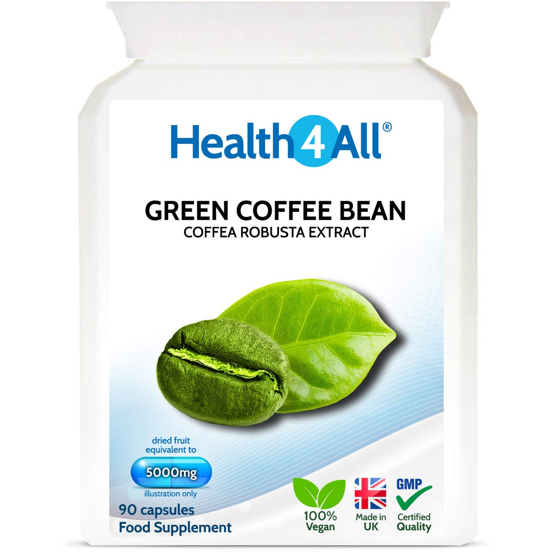 Green Coffee Bean Extract 5000mg 90 Capsules V 1 Month Supply