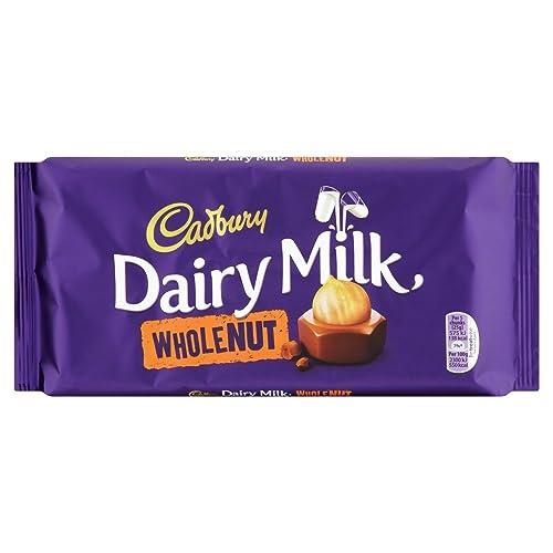 Cadbury Dairy Milk Whole Nut Chocolate Bar, 200g