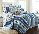 Camps Bay King Quilt Set, Blue, Cotton