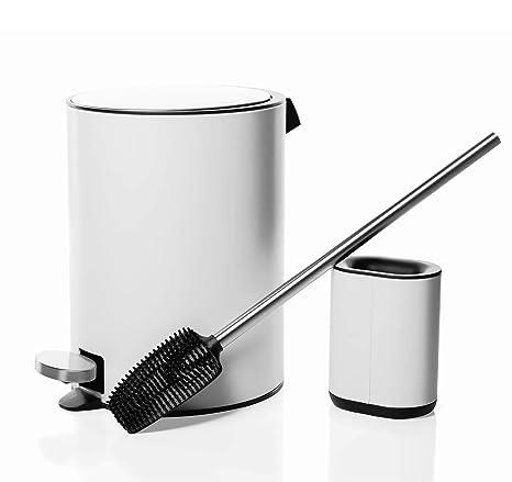 Fits All Holders 2XPlain White Plastic Toilet Brush