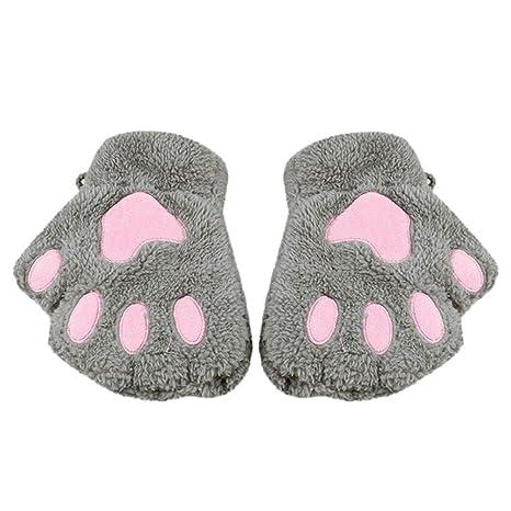 Voberry moda bebé Kids niña gato invierno manoplas guantes ...