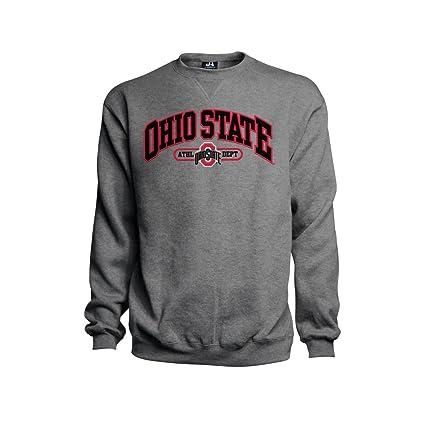 watch 337e3 d2a09 J. America NCAA Ohio State Buckeyes Mens Premium Embroidered Crew Sweatshirt-Heather  Grey-