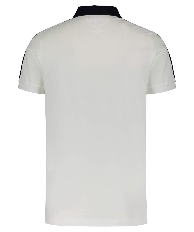 Tommy Hilfiger Nylon Paneled Slim Polo, Blanco, Large (Talla del ...