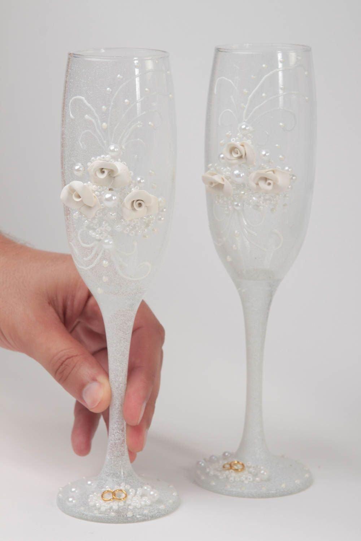 Hecho a mano, diseño de copas de champán, vasos de vino Service-vajilla de boda: Amazon.es: Hogar