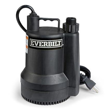 Everbilt SUP54-HD 1/6 HP Plastic Utility Pump - - Amazon com