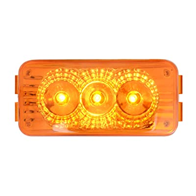 GG Grand General 77950 Amber/Amber LED Light (Small Rectangle Spyder 3, Lens): Automotive