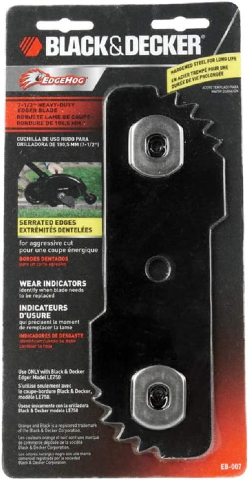 3 each: Black & Decker Replacement Blade for Le750 Edger (EB-007AL)