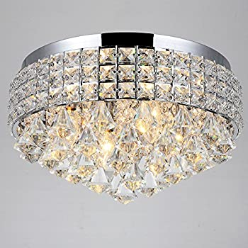 round crystal co chrome flush ceiling light mount chandelier tulum lights polished ceilings modern smsender miraggio