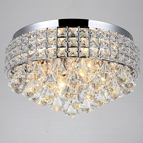 Unique chandeliers amazon antonia ornate crystal flush mount chandelier in chrome aloadofball Image collections
