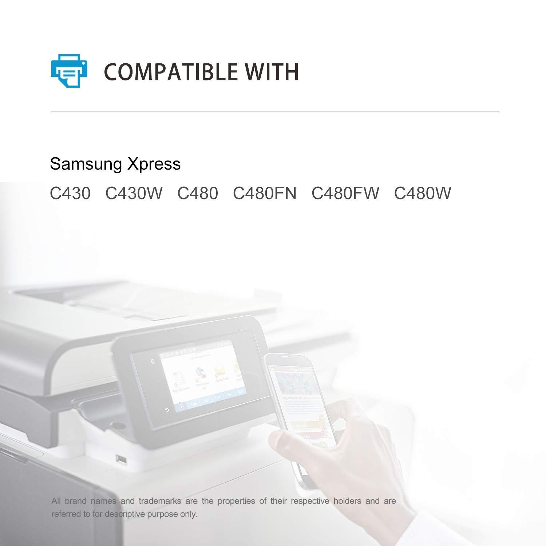 Mycartridge 5 - Tóner Compatible con Samsung CLT-P404C / ELS ...