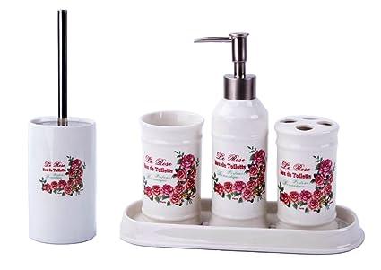 Accessori Bagno Vintage : Casa di campagna rose vintage set da bagno set di accessori da