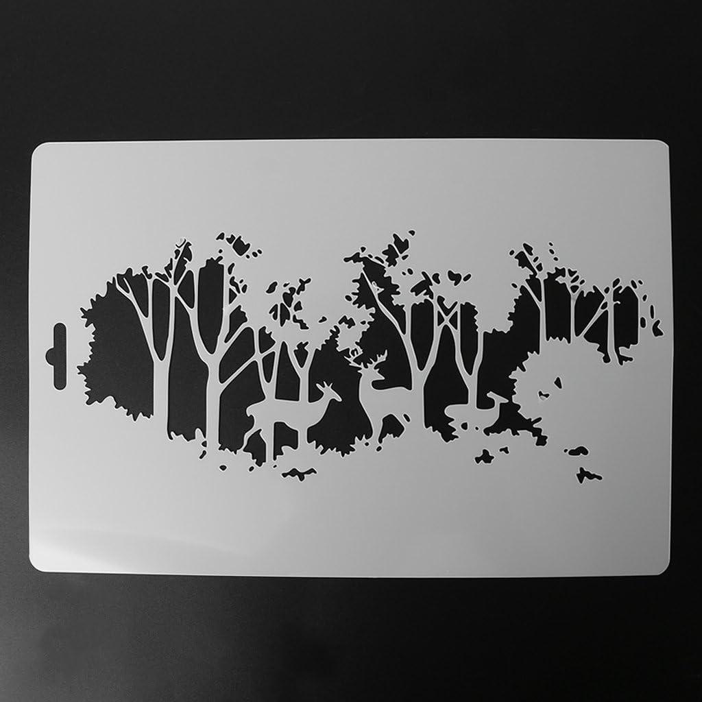 buwei g/âteau Cookie Timbre Forme d/écoration pulv/érisation Pochoir Creux Mur mod/èle de Peinture