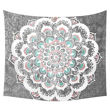 Amazon.com  Ibnotuiy Polyester Indian Mandala Hanging Wall Tapestry ... 4018076ca3