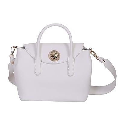 Versace Jeans, Sac à main pour femme blanc Bianco  Amazon.fr ... 3bfd1d51304