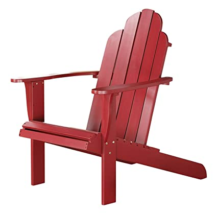 Linon Adirondack Chair, Red