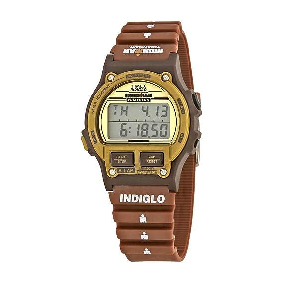 Timex Ironman Triathlon | Original 8-lap temporizador marrón resina | reloj deportivo t5 K842: Amazon.es: Relojes