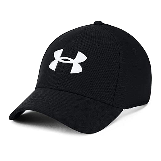 f781ec1ca96 Image not available for. Color: UNDER ARMOUR mens Blitzing 3.0 Cap, Black  (001)/White, Small/