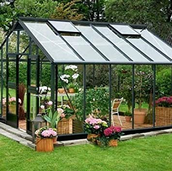 Serre en verre horticole Gardener 16,2m² ...