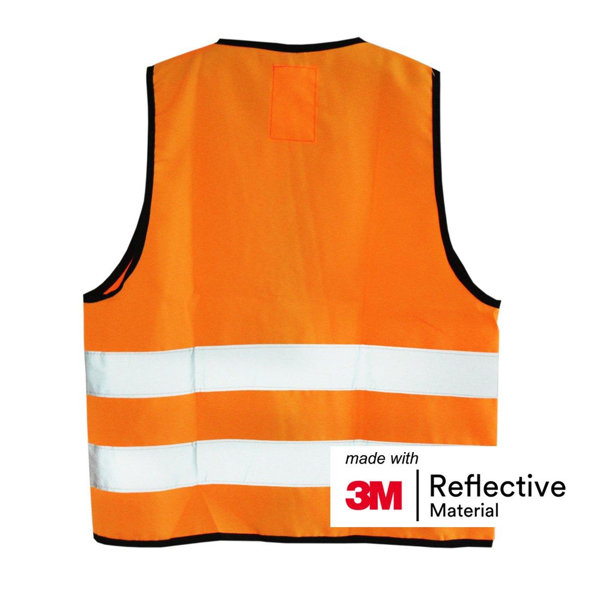 made with 3M Reflective Material Orange M Salzmann 3M Childrens Safety Vest