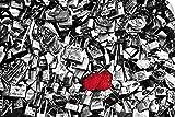 Canvas on Demand Philippe Hugonnard Wall Peel Wall Art Print entitled Red Love Locks - Paris 48''x32''