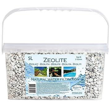 [ZEOLITA] cubo 5 litros, 5 - 10 mm - Material de filtro 100