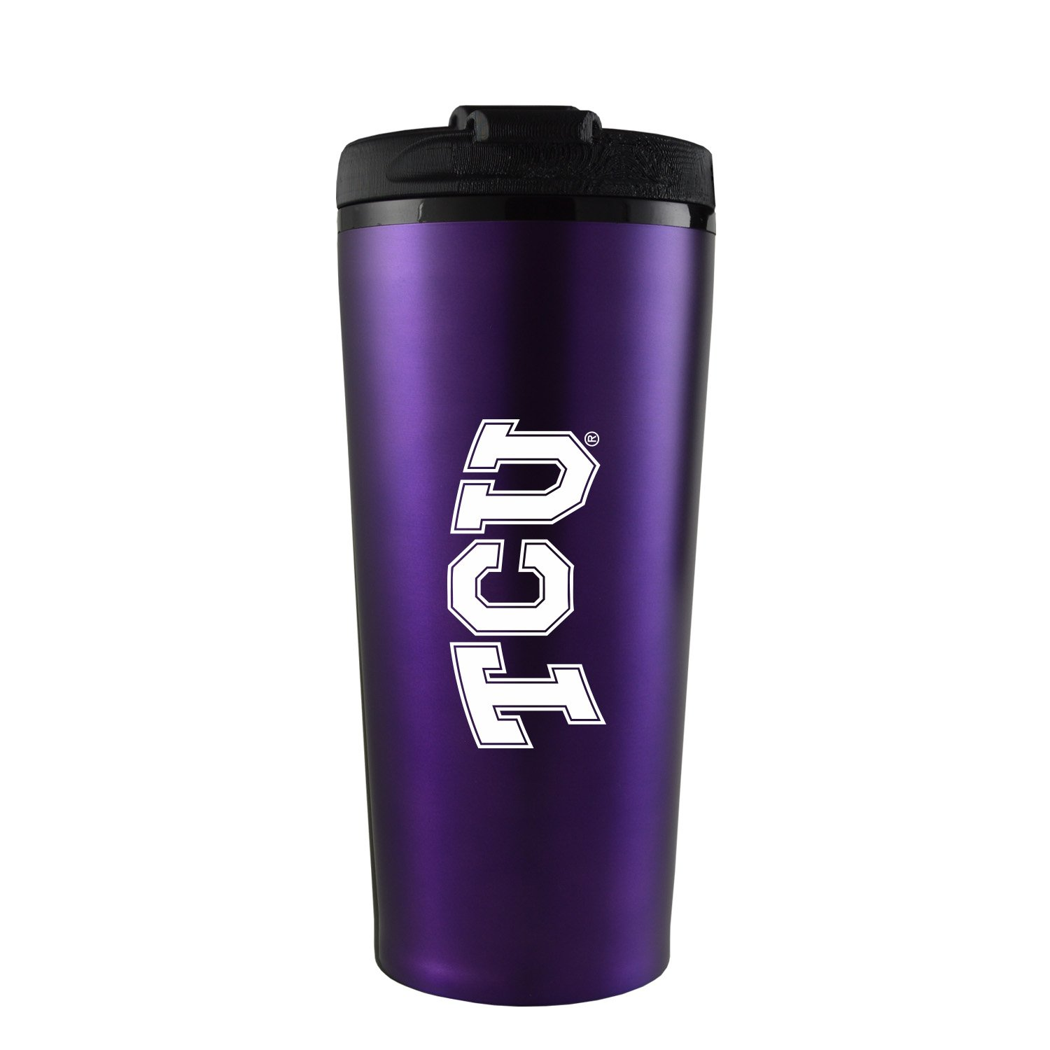 Texas Christian University -16 oz. Travel Mug Tumbler-Purple by LXG, Inc.