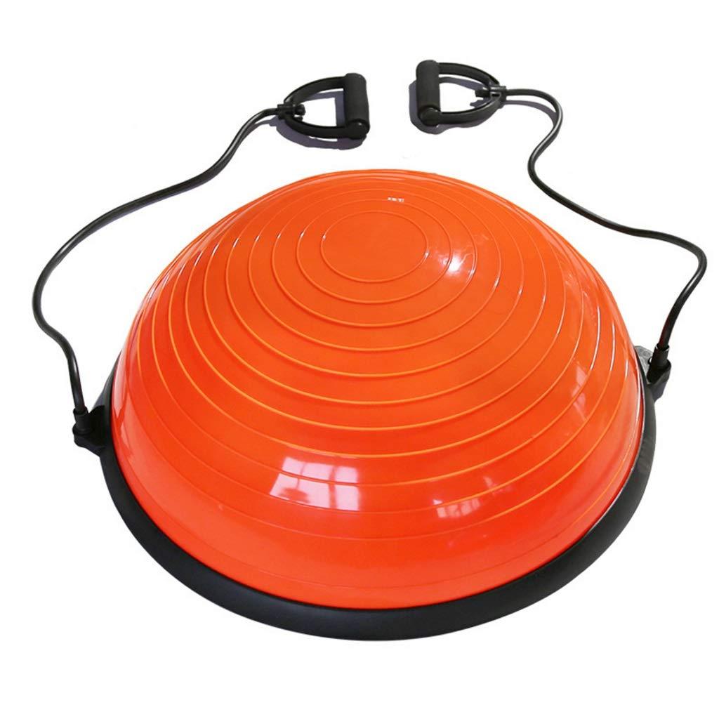 TMY Thickening Yoga Wave Speed   Ball Semicircle Balance Ball Fitness Yoga Rehabilitation Training Hemisphere (Color : Orange) by TMY